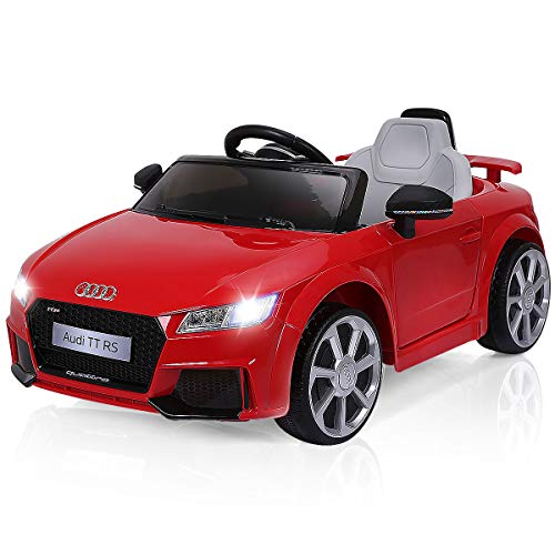 Find Discount Costzon Kids Ride On Car, 12V Licensed Audi TT RS, Remote Control Manual Two Modes Ope...