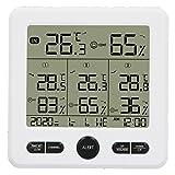 OIHODFHB 3 en 1 medidor de temperatura al aire libre interior del higrómetro inalámbrico del termómetro con alarma