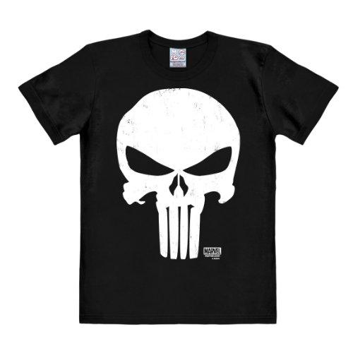 Logoshirt T-Shirt Punitore - Maglia Marvel Comics - Punisher - Maglietta Girocollo Nero - Design Originale Concesso su Licenza, Taglia M