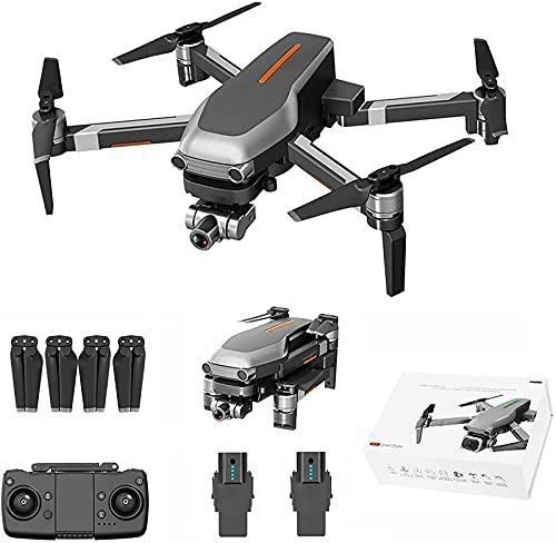 Drone con videocamera 4K per Adulti,5G WiFi GPS FPV Quadricottero RC per Principianti con 25 Minuti di Volo Video in Diretta GPS Ritorno a casa Motore brushless Seguimi (Batteria X 3)
