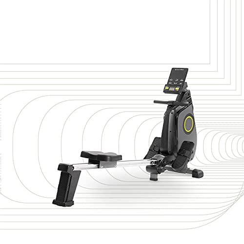SportPlus vogatore ergometro per casa, controllo app, sistema frenante magnetico pieghevole e silenzioso, ca. 8 kg di massa volanica, 24 livelli di resistenza, peso utente max 150 kg, SP-MR-030-iE