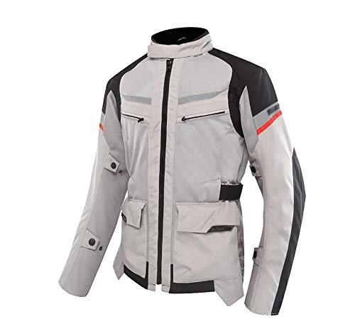 STRTG Motoradkleidung Herren, Textil Atmungsaktive Motorrad Jacke+mit CE-Protektoren Motorradjacke, Mopedjacke-Jet Motorradjacke
