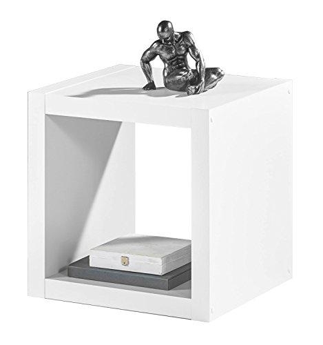 Regal Raumteiler Würfelregal Wandregal | Weiß Dekor | 1 Fach | B/H/L: 41x41x38 cm