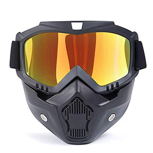 Snow Ski Glasses Snowmobile Goggles Skiing Mask Snowboard Glasses Windproof Motocross Sunglasses Outdoor Uv400 Cycling Eyewear Gold