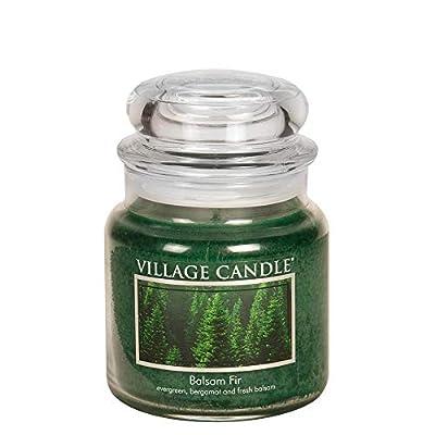 Village Candle Balsam Fir 16 oz Glass Jar Scented Candle, Medium