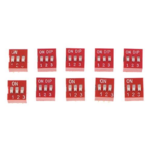yotijar Interruptor basculante DIP de 10 piezas – Modo 3 posiciones