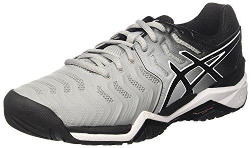 Asics Gel-Resolution 7, Zapatillas de Tenis Hombre, Gris Mid Greyblackwhite 9690, 40.5 EU