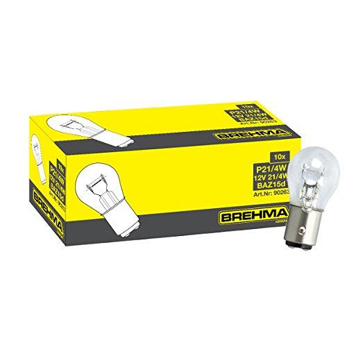 Preisvergleich Produktbild BREHMA 10x P21 / 4W 12V 21 / 4Watt BAZ15D