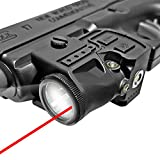 Laswin Flashlight Laser Sight for Pistol,Red Laser Light Combo with Magnetic Charging Battery Inside,Shockproof red Laser Flashlight Used for 1913 Picatinny Handguns and Shotguns