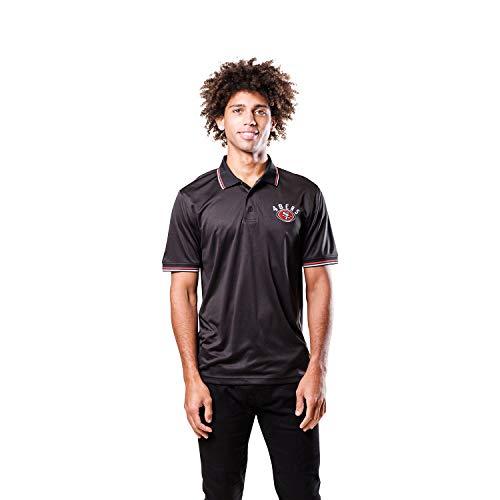 Ultra Game NFL San Francisco 49ers Mens Moisture Wicking Tech Polo Shirt, Team Color, Small