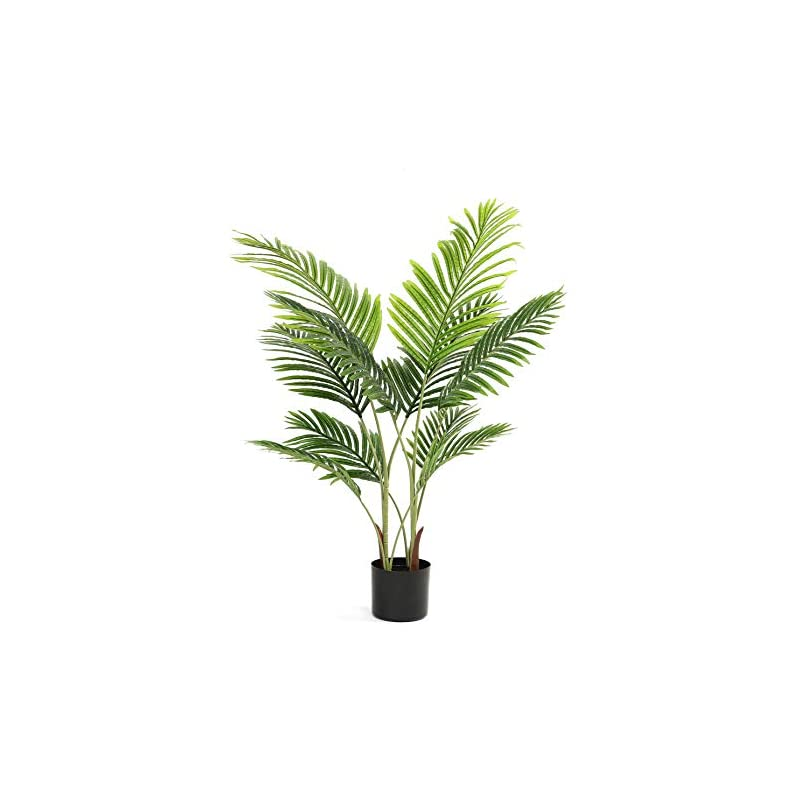 """silk flower arrangements diiger artificial tree 43"""" faux paradise palm tree conifer plant modern large fake plant decor in pot for indoor outdoor,home office perfect housewares gift decoration"""
