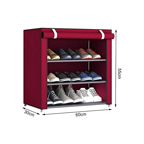 Shoe Rack Shoe Storage Cabinet 4-tier Sturdy Non-woven Fabric Shoe Stand Shelf Storage Organizer Cabinet For Shoes Boots Slippers