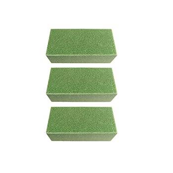 Hovico 3 Pcs Premium Dry Floral Foam Bricks,Green Styrofoam Foam Blocks,Green Foam Flower Arrangement Supplies for Florist Home Craft