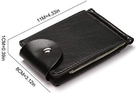 Wallets Fashion Mens Wallet Leather PU Bifold Short Wallets Men Hasp Vintage Male Purse Coin Pouch Multi-functional Cards Wallet Card Case (Color : Black)