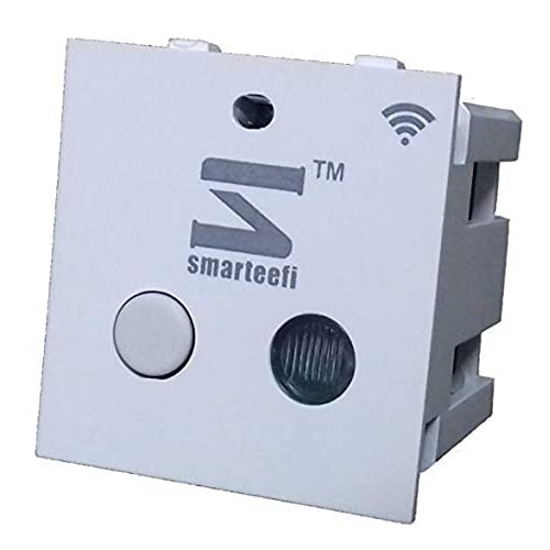 smarteefi Polycarbonate 16A Wifi Smart Switch Compatible with Alexa, Standard Size (White)