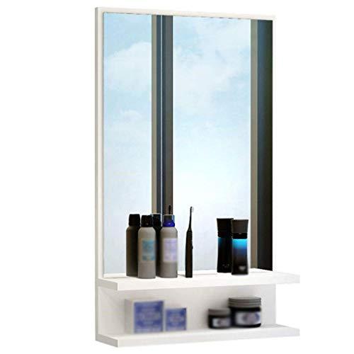 XCJJ Badezimmerspiegelschrank, Wandschrank, Waschbecken/Waschtisch, 40 x 71 x 10 cm,Weiß