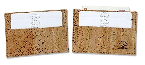 BULLSPORT Tarjetero de corcho, pequeño y delgado, ideal para el bolsillo de la chaqueta - 429CORK