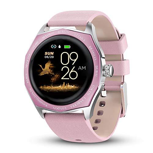 GOKOO Smartwatch Fitness Aktivität Tracker Damen Frauen 1,3'' Zoll Voller Touchscreen IP67 Wasserdicht Sportuhr Armband Pulsuhren Schlafüberwachung Kalorienzähler für Android & iOS (Rosa)