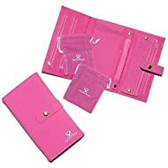 SpecialtyStyles Travel Jewelry Case - Jewelry Organizer with 2 Pouches - Quality Compact Folding