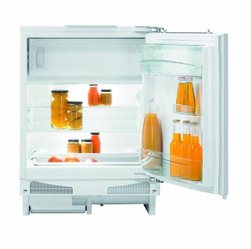 Gorenje RBIU6092AW Unterbau-Kühlschrank / A++ / 142 kWh/Jahr / 105 L Kühlteil / 21 L Gefrierteil / Festtür-Scharnier selbstschließend / Obst- und Gemüsebehälter / weiß