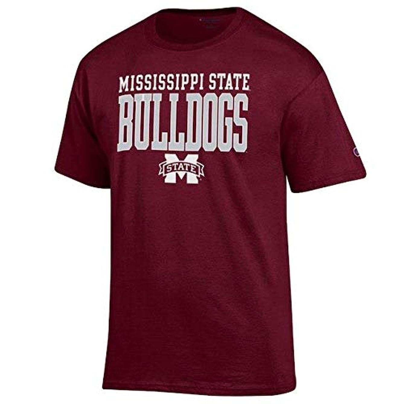 見る時刻表気難しいChampion Champion Mississippi State Bulldogs Maroon Core Mascot T-Shirt スポーツ用品 【並行輸入品】