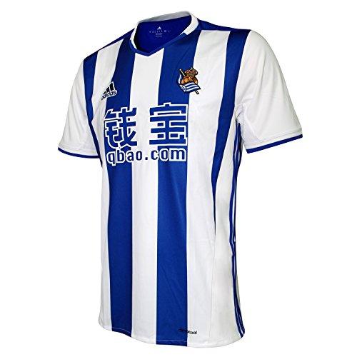 adidas 2ª Equipación Real Sociedad FC, Camiseta Oficial de Fútbol, Hombre, Blanco, XL