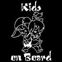 カーステッカー KIDS ON BOARDかわいい漫画の警告車のステッカー窓の装飾ビニールステッカー12.7 * 19センチメートル 自動車&バイク (Color Name : Silver)