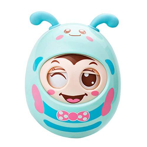 #N/A 起きあがりこぼしポリ赤ちゃんのおもちゃ6 12にヶ月発達、おなか時間おもちゃ、人形タンブラーのため幼児少年 ブルー