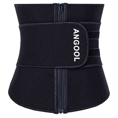 TWINS FLAME Women's Waist Trainer Sauna Belt Hourglass Shaper Neoprene Sweat Corset for Weight Loss