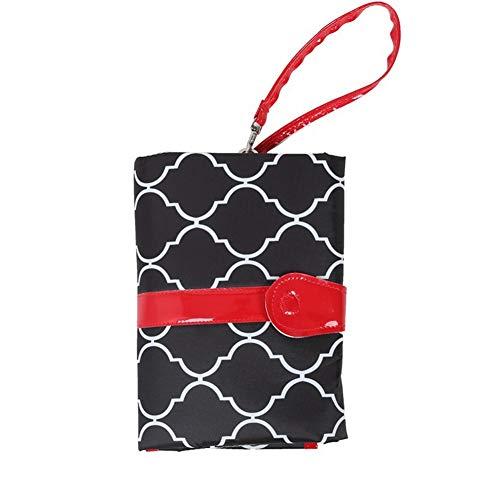 ZYCH Almohada Nuevo Cambiador Portátil de Pañales para Bebé Kits para Cambio de Pañales Impermeable Cambiador de Viaje Colchones Plegables para Cambiador Cómodo Durable Forros (Color : Black)