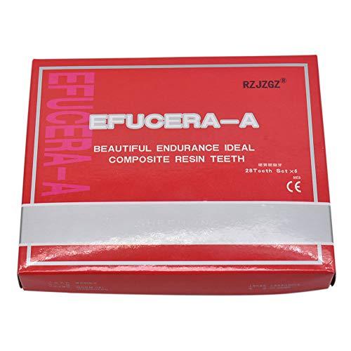 RZJZGZ 168 Pcs Dental Synthetic Resin Tooth Denture 6 Sets False Teeth for Halloween Horror Teeth 23 A3