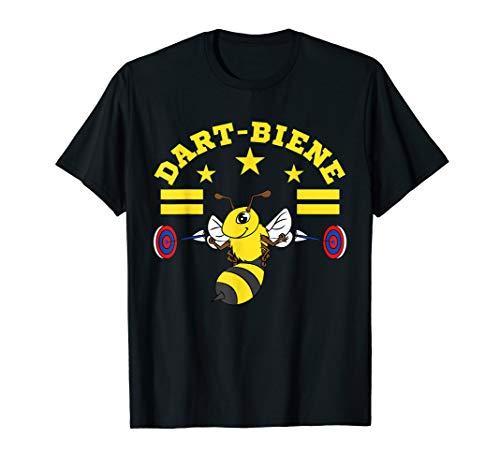 Lustiges Dart Bienen Outfit Dartscheibe Dartpfeile Darten T-Shirt