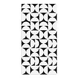 Alfombra Vinílica, Geometría, Negro, 80 x 40 cm, Varios Tamaños y Colores, PVC Estampado, ALV-080-NE