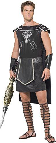 Fever, Herren Dark Gladiator Kostüm,Tunika mit Umhang und Armmanschetten, Größe: M, 55028