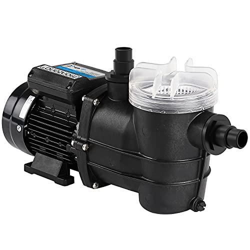 Monzana Filterpumpe 9.960 l/h mit Vorfilter Poolpumpe Umwälzpumpe Sandfilter Pool Pumpe 9,0m Förderhöhe Poolfilter