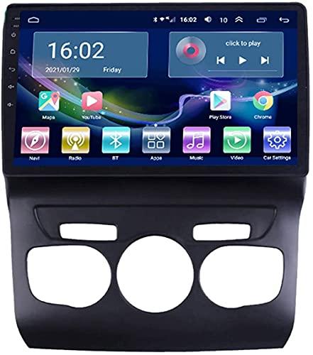 SAJK Estéreo para Coche para Citroen C4L 2013-2017 Radio Navegación Reproductor Android 10.0 Unidad Principal Carplay 10.1 Pulgadas IPS Pantalla táctil BT/WiFi Cámara de Respaldo