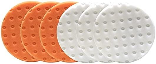 Lake Country CCS Smart Pads DA 5.5 inch Foam Pad (3-White, 3-Orange, 5.5)