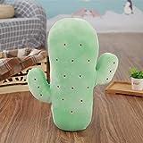mangege Grünes Kaktuskissen Kinderzimmerausstattung Feder Baumwollpflanzenpuppen zum Schlafen 45cm B.