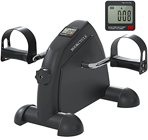 BOOKCYCLE Mini Exercise Bike Foot Pedal Exerciser Theraphy Bicycle for...