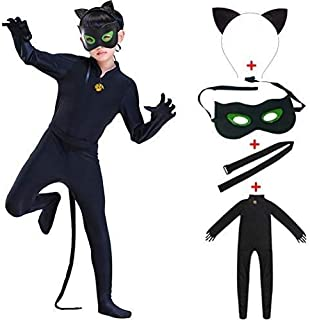 Rfeng Ladybird Cat Noir Black Classic Characters For Child Costume Girls Boys Child Spandex Jumpsuit Fancy Halloween Cospl...
