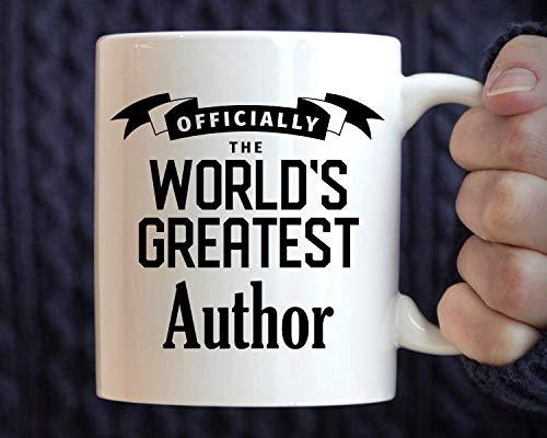 Lplpol Autor Geschenk Best Author Tasse Geschenk für Autor World 's Greatest Author Kaffeetasse, weiß, 11 oz