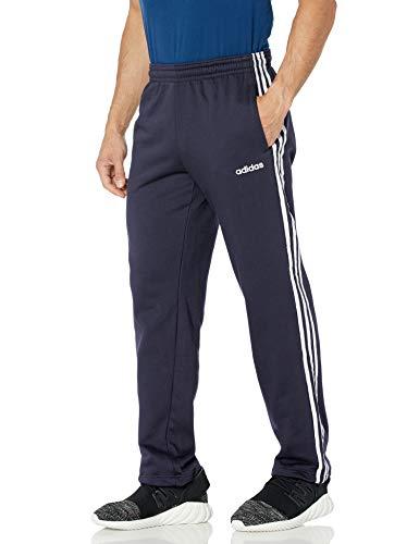 adidas Pantalones Deportivos de Forro Polar con 3 Rayas para Hombre, Hombre, Pantalones, IXW44, Tinta/Blanco, XL