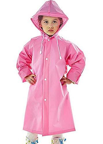 Niue Boy's & Girl's Rain Coat (Niue/Kid-PNK-Raincoat-Plain1/2-3YR_Pink_2-3 Years)