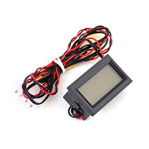 Zerone Digitales Thermometer, 0 ° C- 90 ° C, Wasserdichte 4Pin Sonde, Blau Beleuchtetes LCD Display Thermometer für PC
