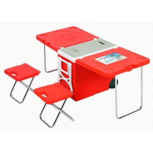 YHONG-OutdoorEquipment Klapptisch Campingtisch Tragbarer faltender kampierender Stuhl-Hochleistungs-Tisch-Stühle im Freien tragender Beutel-Strand-im Freien pp-Plastikedelstahl für Picknickfreund