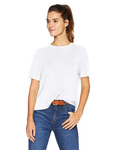 Daily Ritual Jersey Short-Sleeve Boxy Pocket Tee fashion-t-shirts, white, US S (EU S - M)