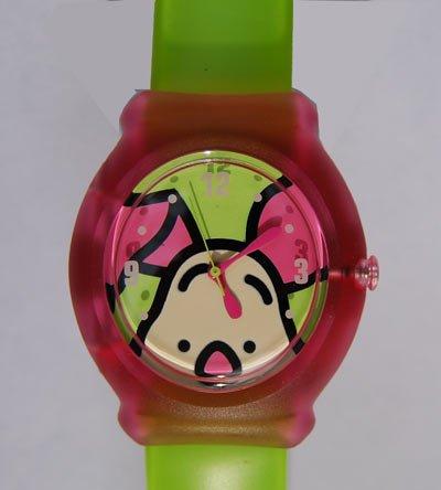 Winnie the Pooh Snap-Uhr mit Schweinchen-Motiv