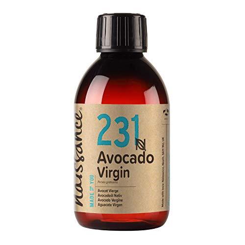 Naissance Aceite Vegetal de Aguacate n. º 231 – 250ml - 100% puro, virgen, prensado en frío, vegano y no OGM