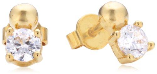 Esprit Jewels Damen-Ohrstecker 925 Sterling Silber Solo pellet gold ESER92524B000