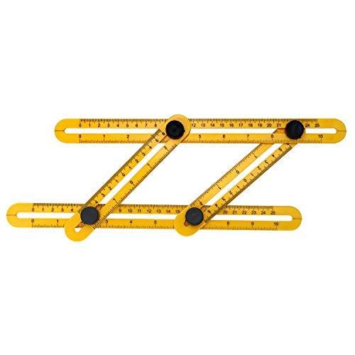 QWORK Vorlage Werkzeug , Template Tool , Winkel Layout Messlineal , Winkellineal Messwerkzeug , für Fliesen Tischler Holzarbeiten Plasterer